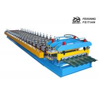 China 1100 Glazed Tile Roll Forming Machine Stand Column Style For Building Material on sale