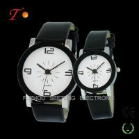 Creative Leisure Pair Watches alloy case with PU leather strap,Stainless Steel Backcase Manufactures