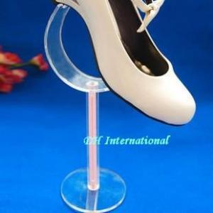 China Custom Curved Acrylic Shoe Rack Display Stand on sale