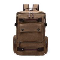 Light Weight Canvas College Student Backpack With Side Pockets 30 - 40L Manufactures