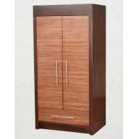 Quality Wooden Two Door Wardrobe Storage Closet With Drawers For Hotel Bedroom for sale