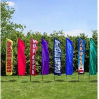 Rectangle Full Color Decorative Beach Flags Hot Transfer Printing Manufactures