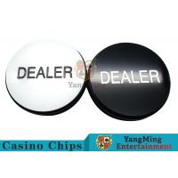 Texas Sculpture Poker Blind Buttons With Black And White Double - Sided Design Manufactures