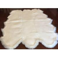Real Sheepskin Rug Extra Large Sheepskin Area Carpet Soft Fur 6P White Six Pelts Manufactures