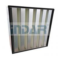 Large Air Flow V Bank HEPA Filter H13 Galvanized Steel Frame For Clean Room Manufactures