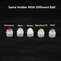 China Different size design custom available plastic insert plug holder with various roller balls on sale