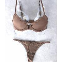Spandex / Cotton / Bamboo Fiber Adults Sexy New Style Women Matching Bra And Underwear Set Manufactures