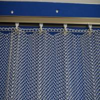 Cascade coil type metal fabric drapery curtain for hotel lobby metallic shower curtain/Metal Coil Drapery/expanded stain Manufactures
