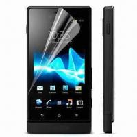 Clear Screen Protectors for Sony Ericsson Xperia Sola, MT27i, Above 92% Transparency Manufactures