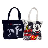 Organic Plain Cotton Bags Full Zipper Different Color Pattern Shopping bag Manufactures