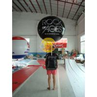 Quality Customized PVC Attractive Durable Backpack Balloons with Full digital printing for Parade for sale