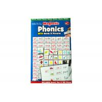 Toddlers Refrigerator Magnet Sheets Phonics Customized With Words / Pictures Manufactures