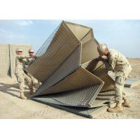 China Welded Hesco Barrier / Hesco Bastion / Gabion Mesh Box with brown geotextile for military on sale
