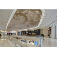2.5MM PVDF Coating Luxury Gold Metal Ceiling Panels For Shopping Mall Commercial Building Manufactures