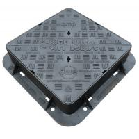 EN124 D400 Cast Iron Manhole Cover Double Sealed Triangular Ductile Iron Manhole Cover And Frame Manufactures