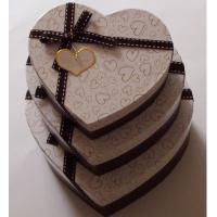 Heart shaped Decorative Luxury Recycled Gift Paper Box , Cream Paper Box For Chocolate Manufactures
