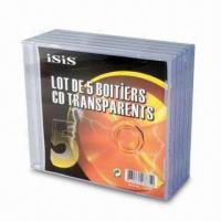 CD Transparent Case with Attractive Packing, can be Made According to Customer's Request