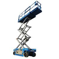 China 10m Sky Self Propelled Electric Scissor Lift Heavy Duty Ergonomic Design 320kg Loading on sale