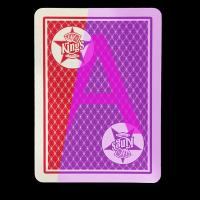 China Red And Blue Invisible Playing Cards / Copag Kings Casino plastic cards on sale