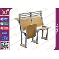 Aluminium Frame Floor Mounded Classroom Desk And Chair Set For Students With Book Net Manufactures