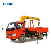 6 Ton Light Cargo Truck with Crane 6 Ton Wheel Truck Crane for sale Manufactures