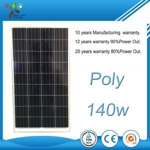 140Wp 10.2Kg Polycrystalline Solar Panels 100 Watt For Street Light System Manufactures