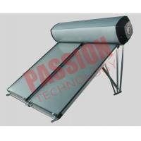 Compact Swimming Pool Solar Water Heater Flat Plate Black Chrome Coating Manufactures