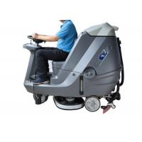Automatic Ride On Sweeper Scrubber , Factory Stone Floor Cleaner Machine Manufactures