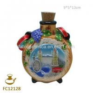 China FC12128 Ceramic Airtight Flat Pot for London Souvenir on sale