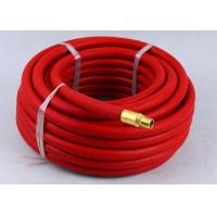Red Rubber Air Hose with BSP Or NPT Fittings , Rubber Air Line BP 900 / 1200 Psi Manufactures