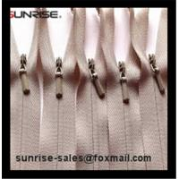 YKK #3 heavy duty in beige color close end invisible nylon zipper for lady pants and dress Manufactures