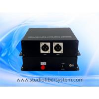 2CH Unidirectional XLR balanced audio over fiber extender for broadcast system Manufactures