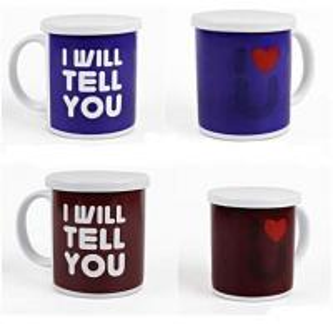 Heat Sensitive Reusable Coffee Cup Custom Magic Mug White AB Grade Manufactures