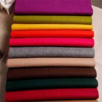 Polyester Melton Wool Fabric / Wool Dress Fabric For Jacket Coating Dress Manufactures