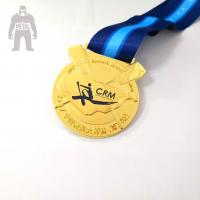 China Funny Custom Engraved Metal Gold Medal  , Basketball Medals For Kids Multi Functional on sale