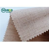 Woven Hair Bow Canvas Cotton Polyester Interlining 260gsm Lining For Garment Uniform Suit Manufactures