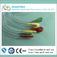 Quality DIN Series 3-lead ecg leadwires for sale