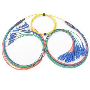 12C Pre Terminated Multi Fiber Cables SC / UPC - LC / UPC SM LSZH Material Manufactures