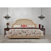 Quality Good quality Gery Fabric Upholstered Headboard Queen Bed Leisure Furniture for for sale