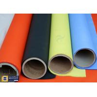 Orange Acrylic Coated Fibreglass Fabric 500℉ 0.2MM 260G Chemical Flame Resistant Manufactures