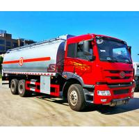 FAW 6x4 Oil Tanker Truck 20 - 25 M3 Volume FAW J5M Cabin Manual Gearbox Manufactures