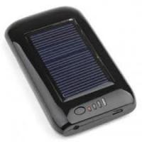 China Black 5.5V / 120ma 2600MAH Rechargeable Digital solar battery chargers with LED Lamp on sale