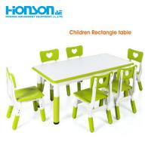 China kindergarten kids furniture set adjustable folding plastic folding table and chair on sale