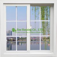 White Color UPVC Sliding Window With Grilled For ResidentialHome, Vinyl Sliding windows Manufactures