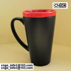 hot sale the fashion big Chalk Mug free your hand wholesale16oz Ceramic Chalk Mugs cups Manufactures