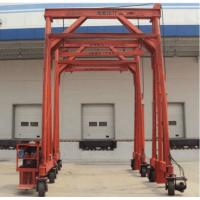 China Red Steel Standard Mobile Container Crane , Port Gantry Crane Container Handling Crane on sale