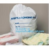 Biodegradable Waterproof Travel Drawstring Bag Shoe Laundry Underwear Makeup Storage Pouch Backpack Laundry Bag bagease Manufactures