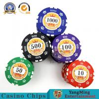 China Electronic Gambling Poker Printed RFID Casino Chips Ultimate Crown Stickers on sale