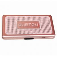 Buy cheap Eye Showder Rectangular Tin Box with foam and mirror , cosmetic tin box with hinged lid from wholesalers