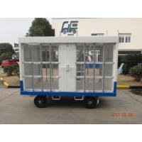 Waterproof White Airport Ground Support Equipment Luggage Carrier Cart With Canopy Manufactures